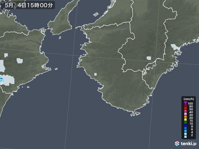 和歌山県の雨雲レーダー(2020年05月04日)