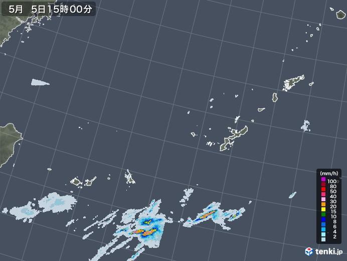 沖縄地方の雨雲レーダー(2020年05月05日)