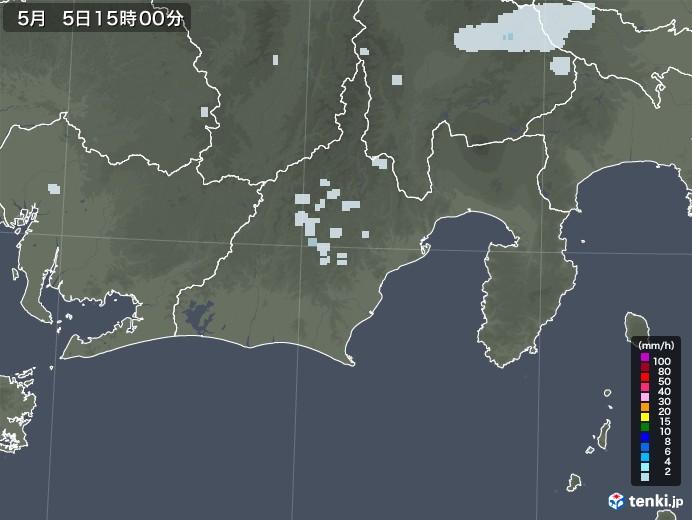 静岡県の雨雲レーダー(2020年05月05日)