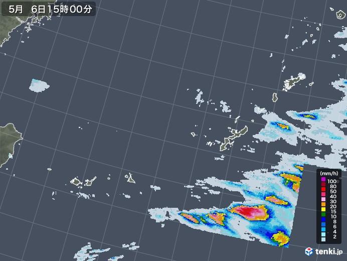 沖縄地方の雨雲レーダー(2020年05月06日)