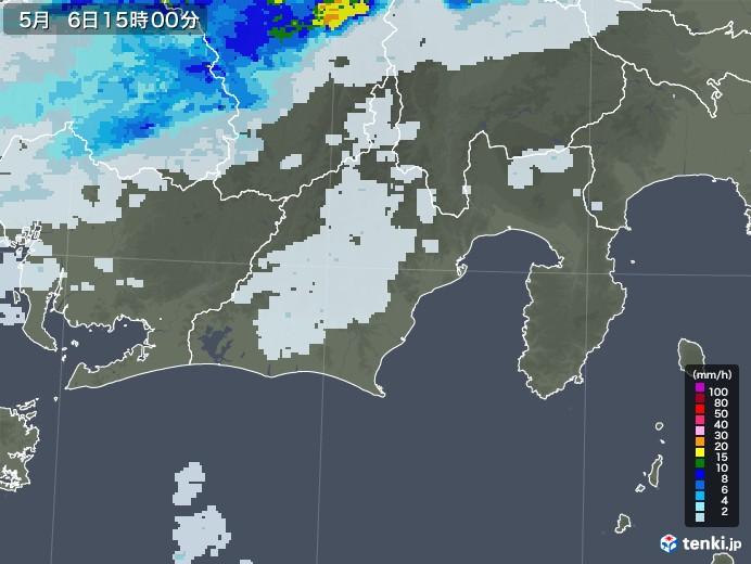 静岡県の雨雲レーダー(2020年05月06日)