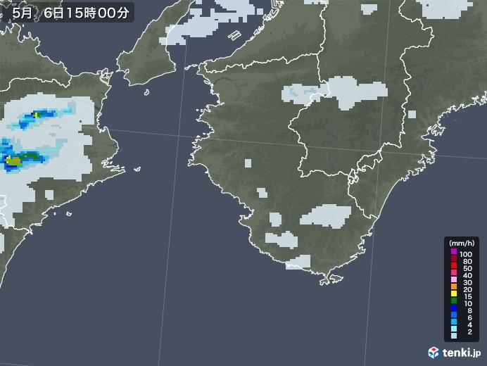 和歌山県の雨雲レーダー(2020年05月06日)