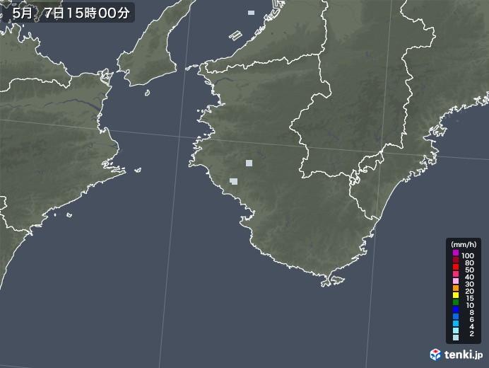 和歌山県の雨雲レーダー(2020年05月07日)