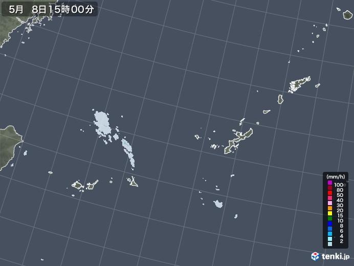沖縄地方の雨雲レーダー(2020年05月08日)
