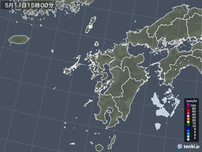 九州地方の雨雲レーダー(2020年05月11日)
