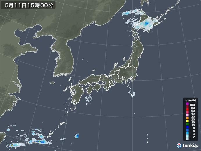 雨雲レーダー(2020年05月11日)