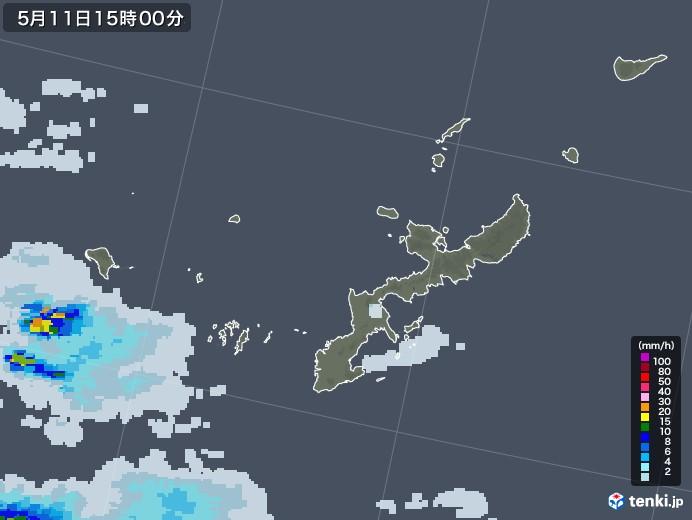 沖縄県の雨雲レーダー(2020年05月11日)