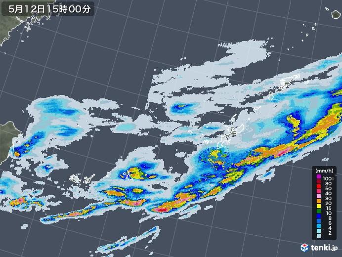 沖縄地方の雨雲レーダー(2020年05月12日)
