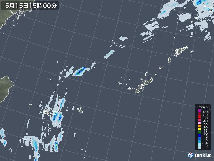 沖縄地方の雨雲レーダー(2020年05月15日)