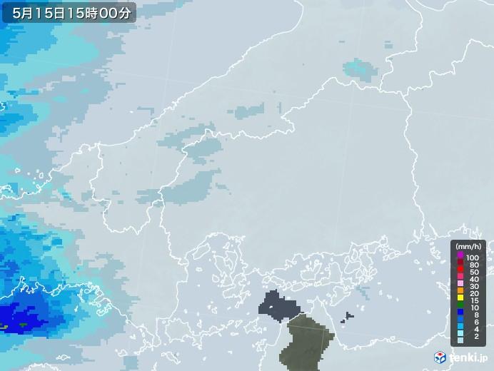 広島県の雨雲レーダー(2020年05月15日)
