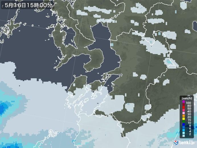 熊本県の雨雲レーダー(2020年05月16日)