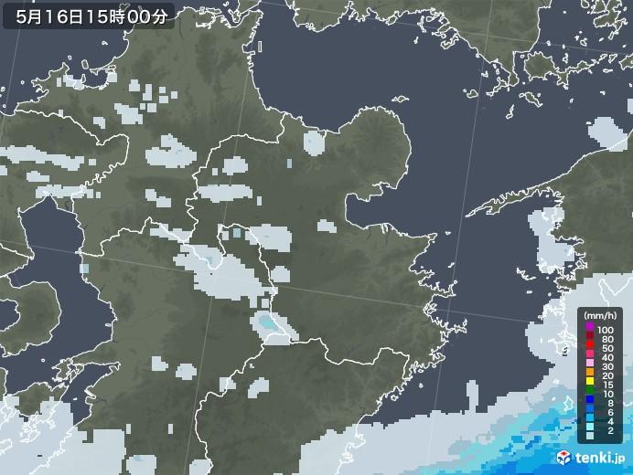 大分県の雨雲レーダー(2020年05月16日)