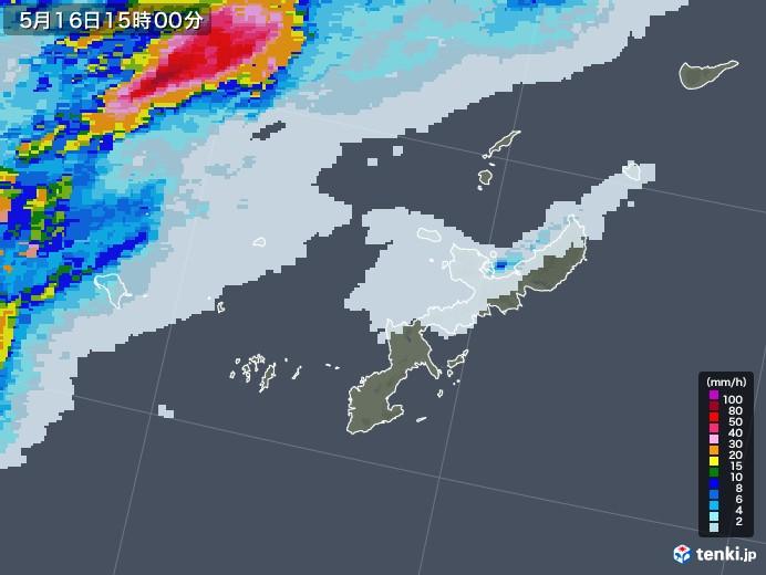 沖縄県の雨雲レーダー(2020年05月16日)