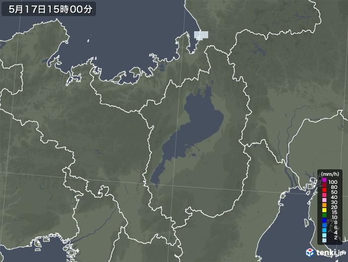 滋賀県の雨雲レーダー(2020年05月17日)