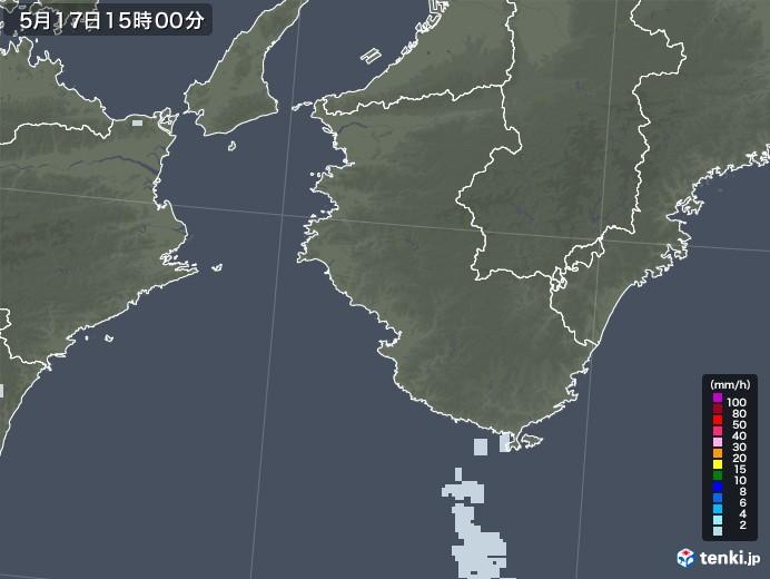 和歌山県の雨雲レーダー(2020年05月17日)