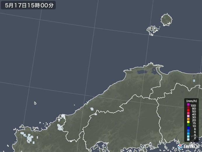 島根県の雨雲レーダー(2020年05月17日)