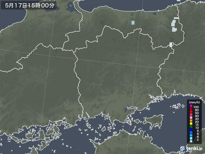岡山県の雨雲レーダー(2020年05月17日)