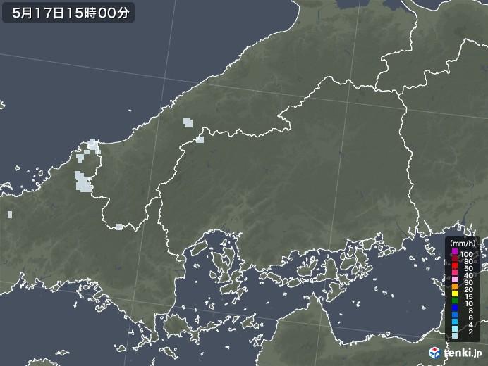 広島県の雨雲レーダー(2020年05月17日)