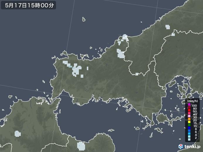山口県の雨雲レーダー(2020年05月17日)