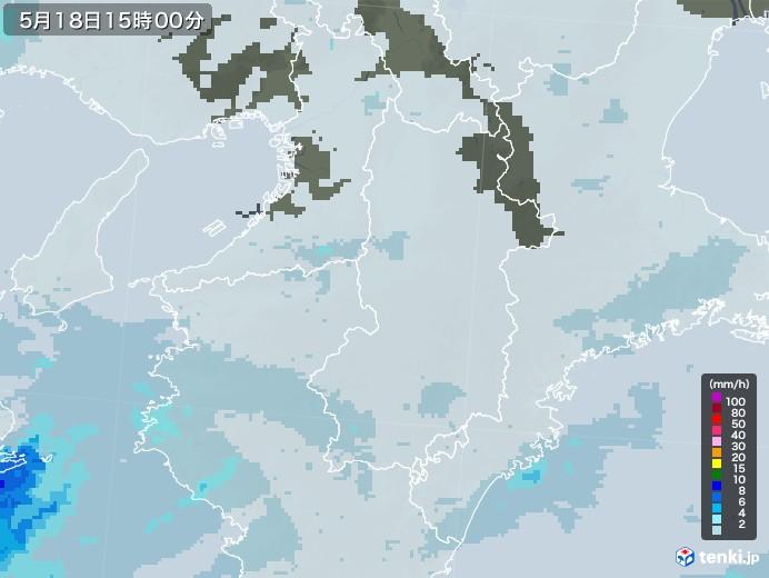 奈良県の雨雲レーダー(2020年05月18日)
