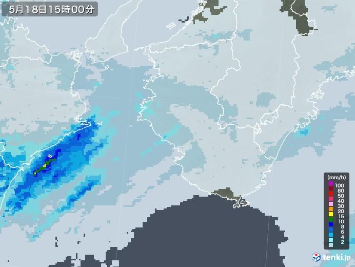 和歌山県の雨雲レーダー(2020年05月18日)
