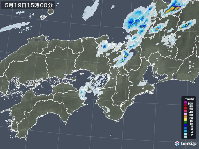 近畿地方の雨雲レーダー(2020年05月19日)