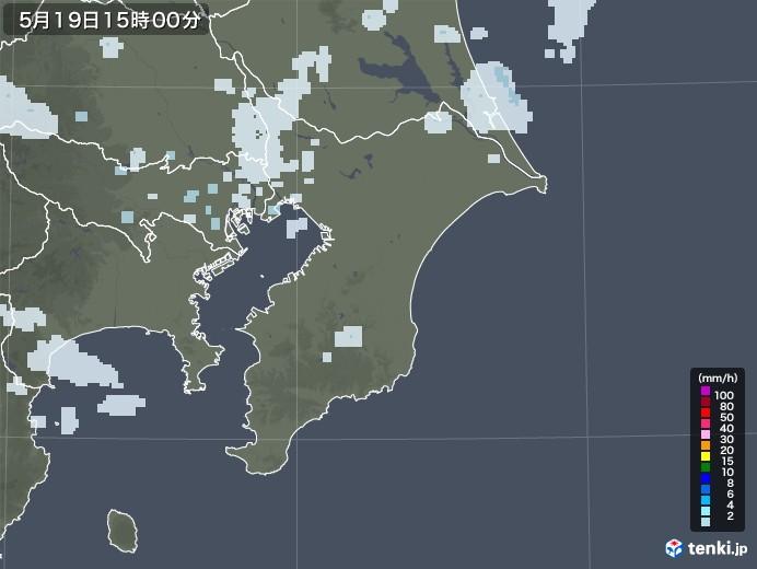 千葉県の雨雲レーダー(2020年05月19日)
