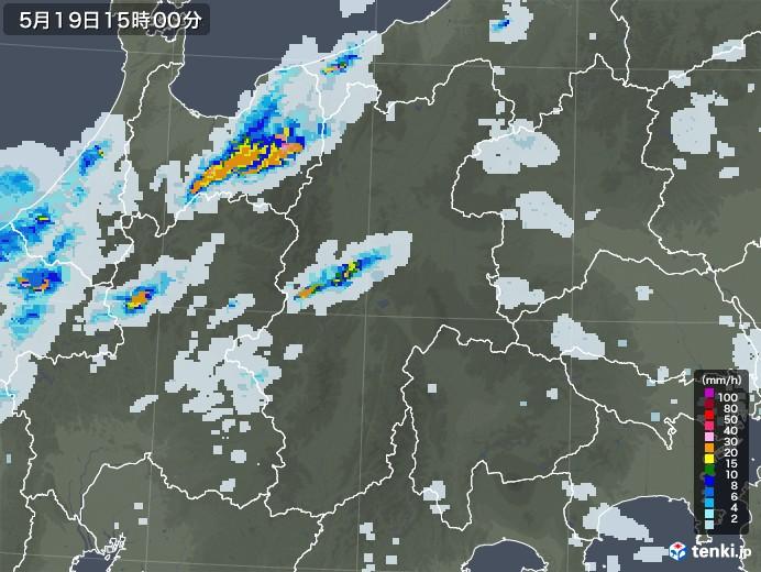 長野県の雨雲レーダー(2020年05月19日)