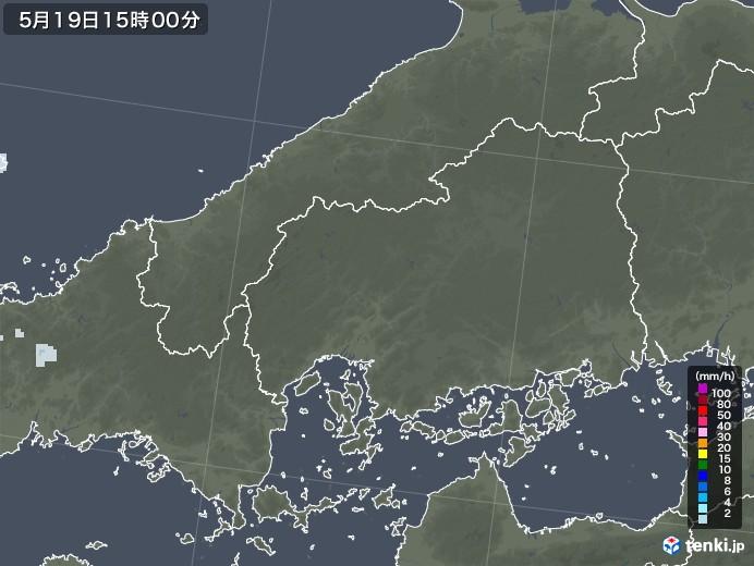 広島県の雨雲レーダー(2020年05月19日)