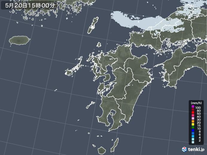 九州地方の雨雲レーダー(2020年05月20日)