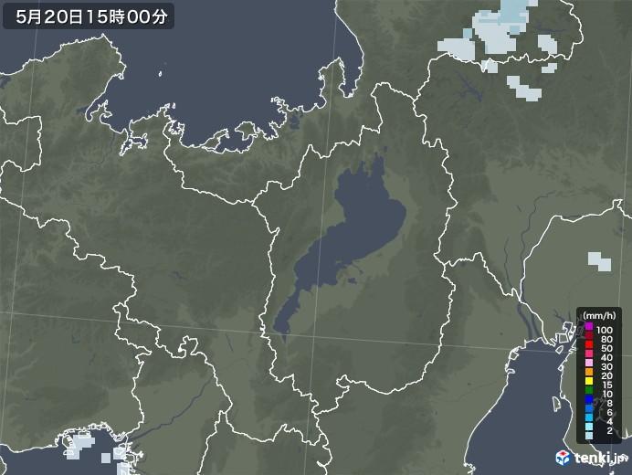 滋賀県の雨雲レーダー(2020年05月20日)
