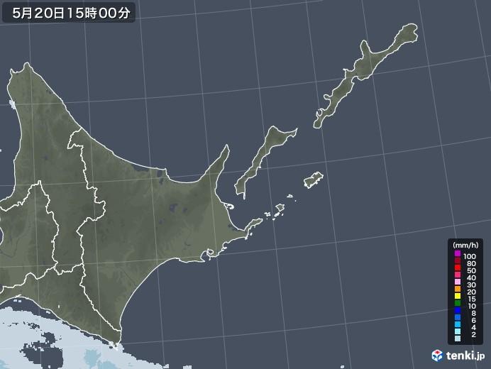 道東の雨雲レーダー(2020年05月20日)