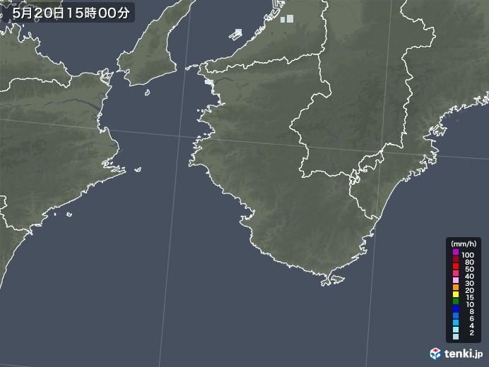 和歌山県の雨雲レーダー(2020年05月20日)