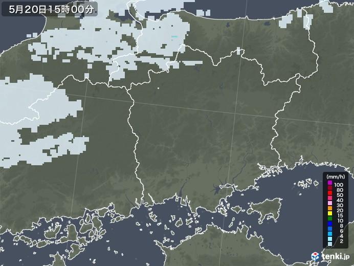 岡山県の雨雲レーダー(2020年05月20日)