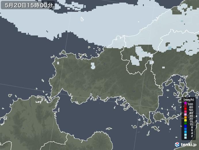 山口県の雨雲レーダー(2020年05月20日)