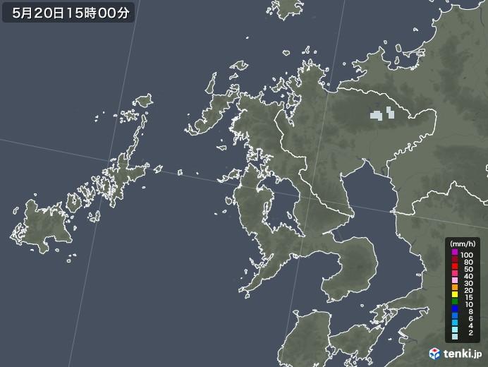 長崎県の雨雲レーダー(2020年05月20日)