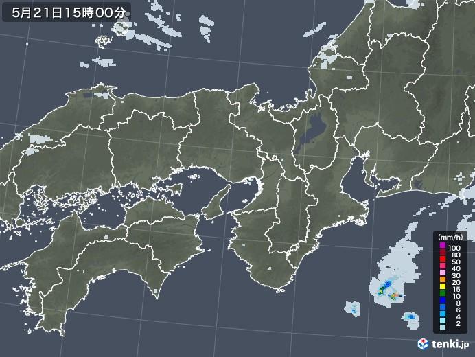 近畿地方の雨雲レーダー(2020年05月21日)
