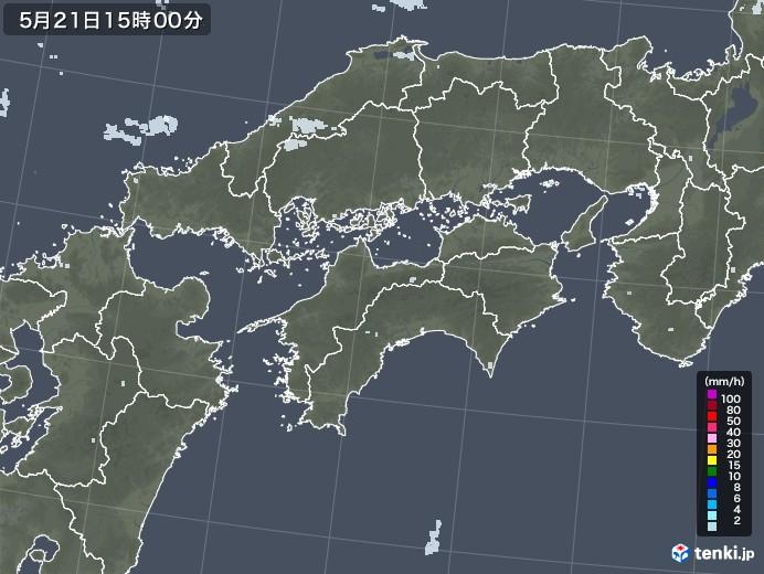 四国地方の雨雲レーダー(2020年05月21日)