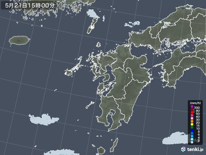 九州地方の雨雲レーダー(2020年05月21日)