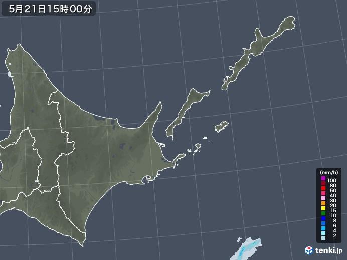 道東の雨雲レーダー(2020年05月21日)
