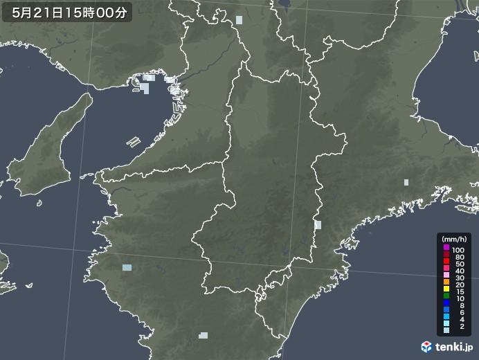 奈良県の雨雲レーダー(2020年05月21日)