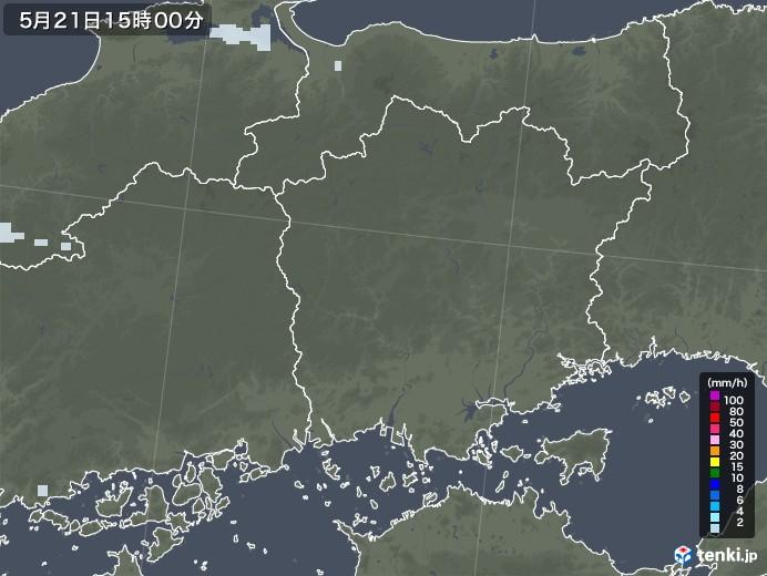 岡山県の雨雲レーダー(2020年05月21日)