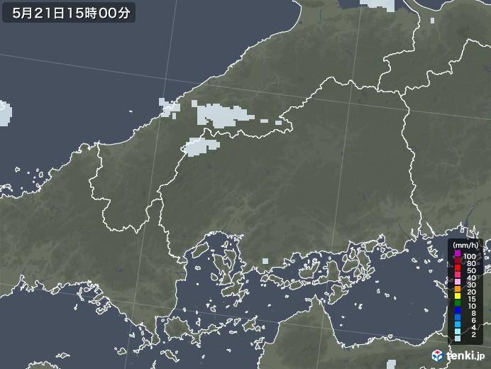広島県の雨雲レーダー(2020年05月21日)