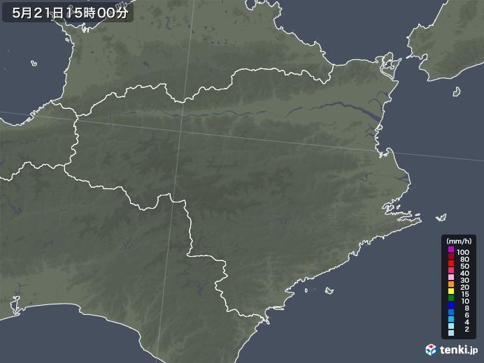 徳島県の雨雲レーダー(2020年05月21日)