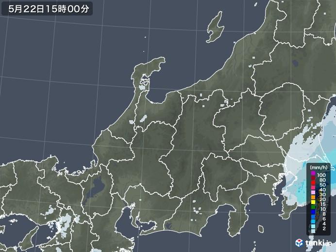 北陸地方の雨雲レーダー(2020年05月22日)