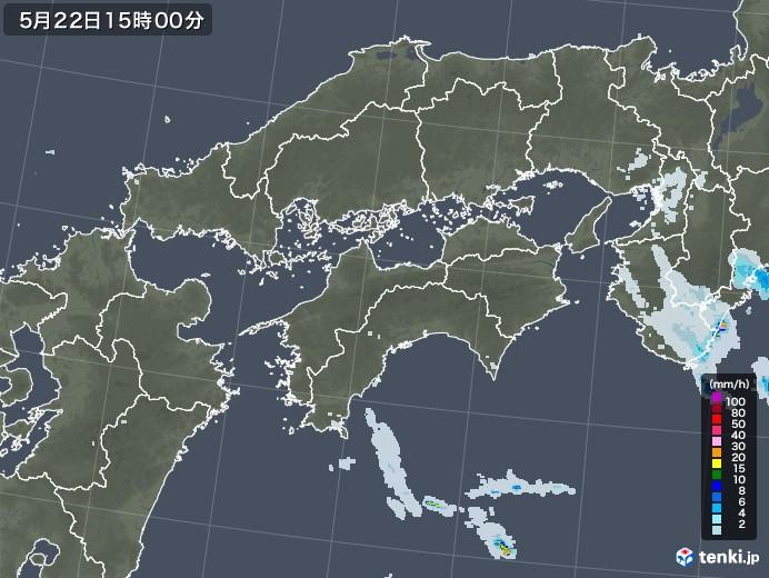 四国地方の雨雲レーダー(2020年05月22日)