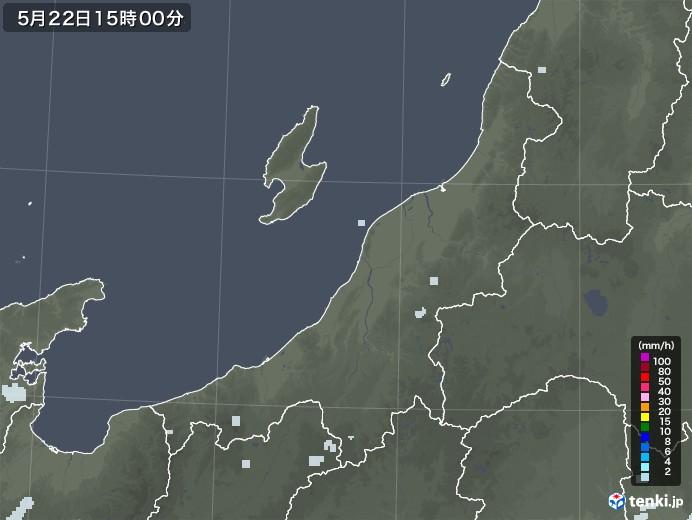 新潟県の雨雲レーダー(2020年05月22日)