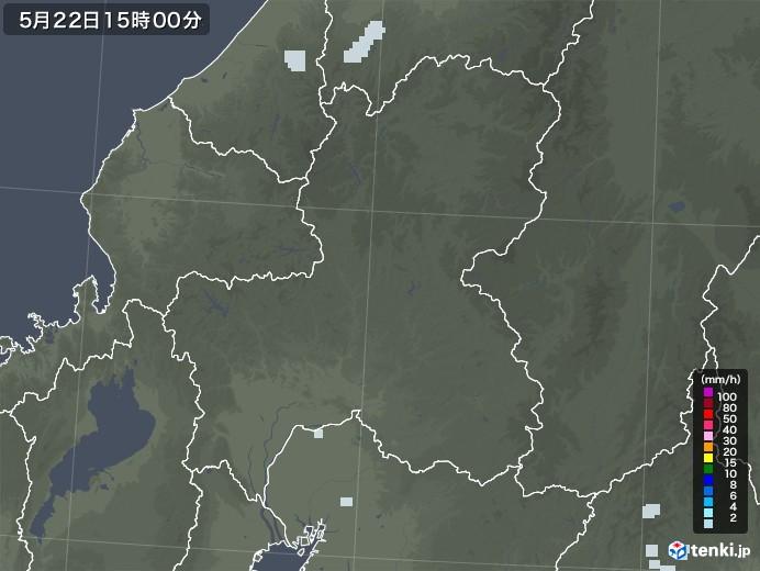 岐阜県の雨雲レーダー(2020年05月22日)