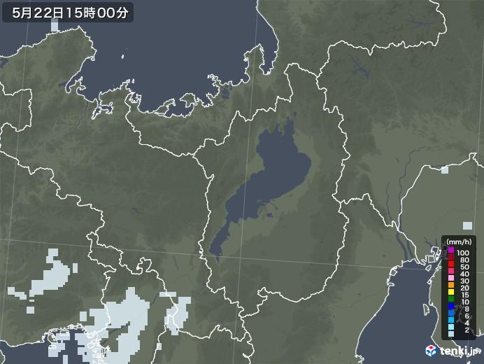 滋賀県の雨雲レーダー(2020年05月22日)