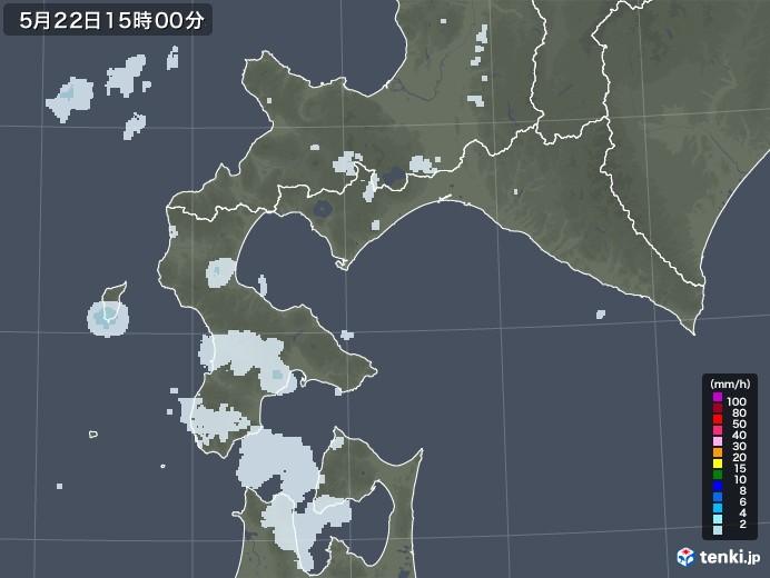 道南の雨雲レーダー(2020年05月22日)